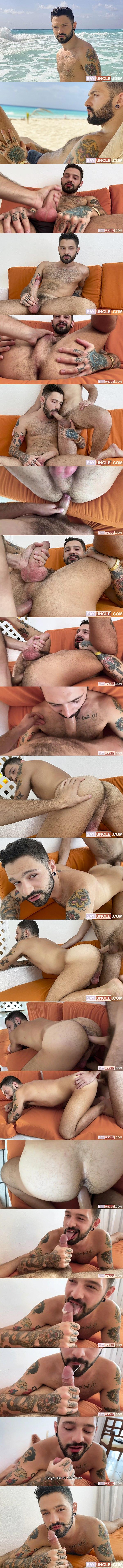 Latinleche - the camera guy Rob Campos barebacks fuzzy Brazilian jock Igor Lucios in a POV scene before he nuts in Igor's mouth in When Brazil Meets Argentina 02