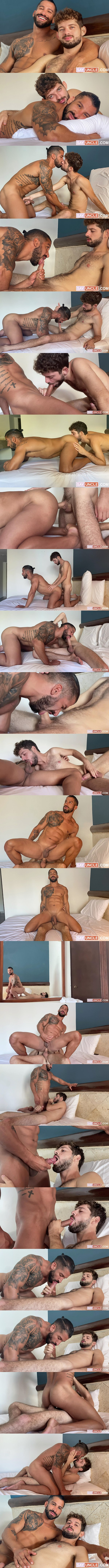 Latinleche - lean fuzzy latin jock Rob Campos barebacks handsome chiseled beefcake Octavio's bubble ass in Octavio's bottoming debut in Climbed That Chiseled Man 02