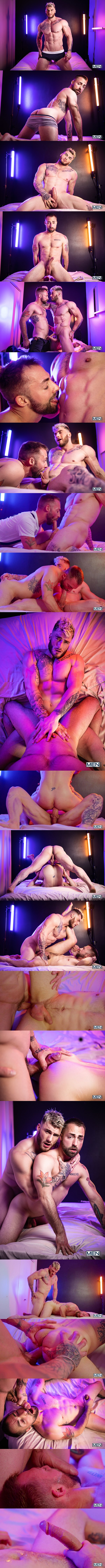 Men - popular porn star William Seed barebacks bearded stud Jeremy London in different positions until he gives Jeremy a facial in Hooking Up With William Seed 02