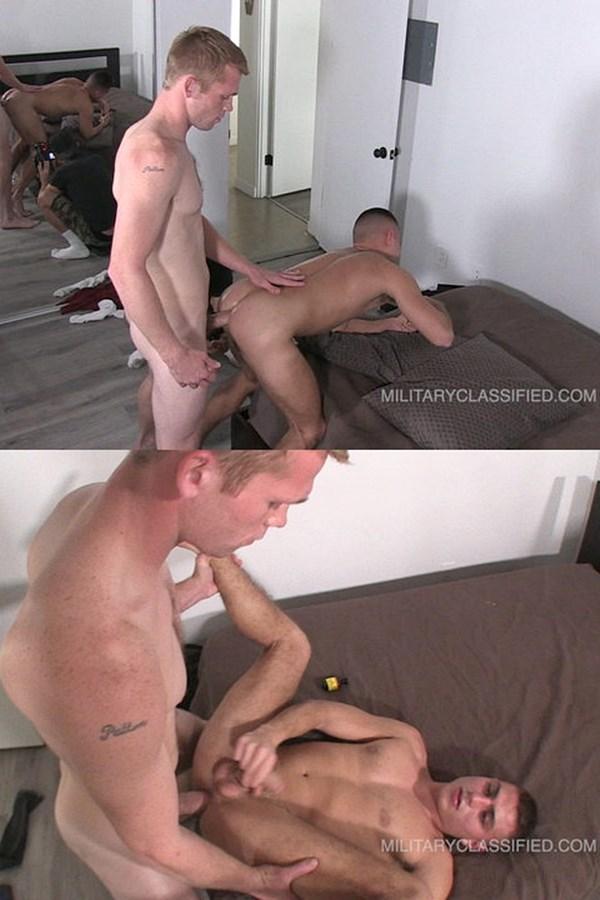 Militaryclassified - hung ginger Cash (aka Calhoun Sawyer) barebacks latino stud Martinez' virgin ass (aka Danny Martinez) before he fucks the cum out of Martinez 01