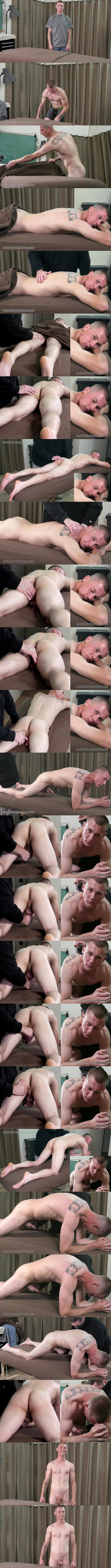 Redhotstraightboys - Tom massages straight jock Fletch Chase's body and fondles Fletch's dick and balls before he jerks Fletch off in Fletch's First Gay Experience 02
