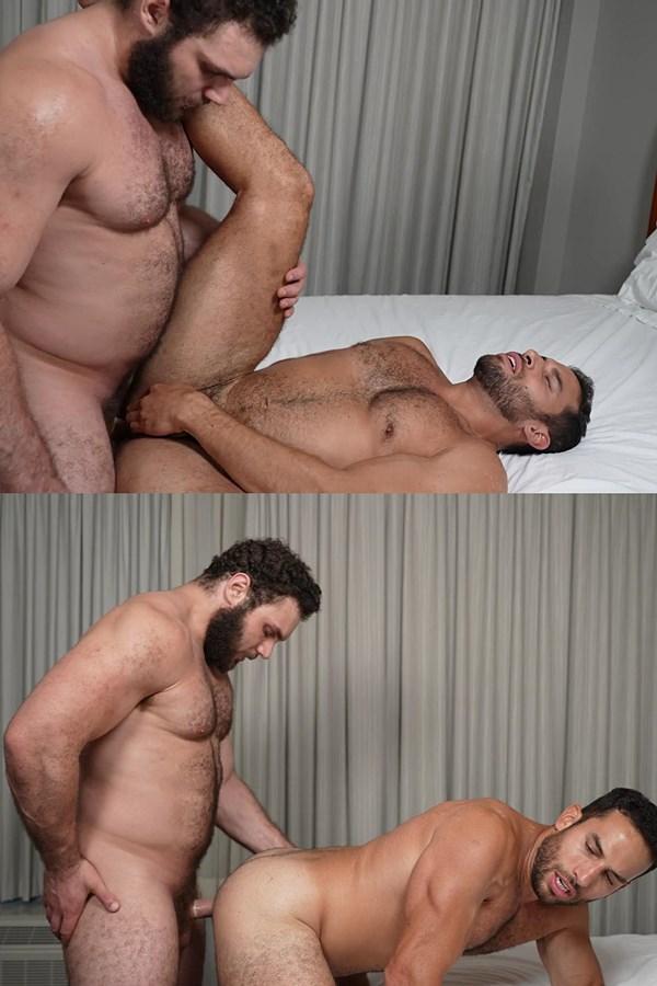 Theguysite - masculine straight football stud Ludvig fucks veteran porn star Ricky Decker (aka Arthur) in several positions before they blow their creamy loads 01