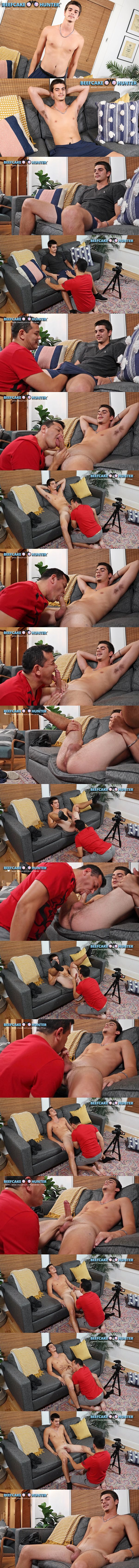 Beefcakehunter - Victor deep-throats straight delivery guy Ernest's cock and rim Ernest's tight virgin ass before he jerks a big load out of Ernest's hard pole 02