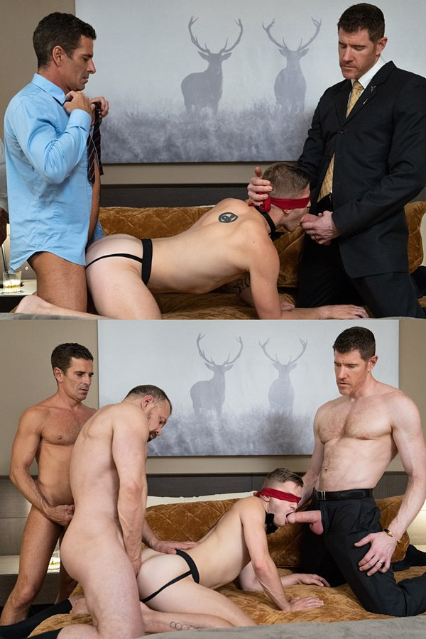 Boyforsale - Mitch Cox, Lance Charger, LeGrand Wolf and Max Sargent take turns barebacking twink Tom Bentley at his both ends before LeGrand creampies Tom 01