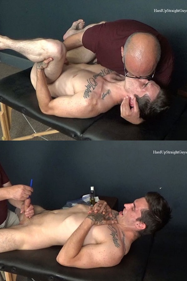 Hardupstraightguys - straight guy Drew gets fingered, dildo-fucked, made to take sounding into his dick and jerked off before he eats his own cum and swallow it 01