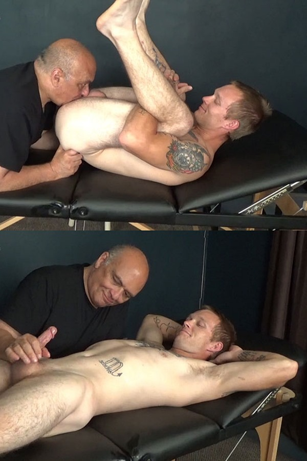 Slowteasinghandjobs - hot inked married husband, iron worker Buddy Meyers gets fondles, sucked and rimmed before he nuts in Rich's mouth in Buddy is Back 01