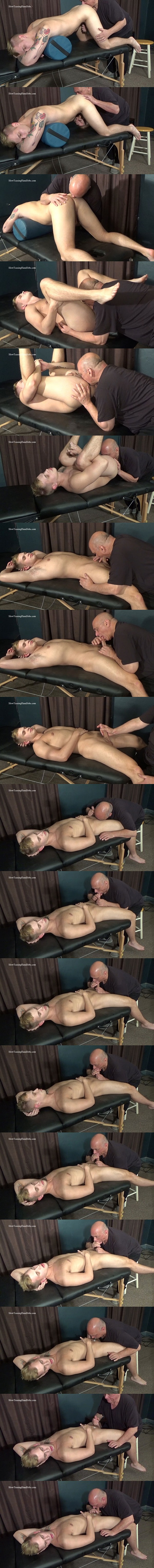 Slowteasinghandjobs - master Rich rims fit straight dude Hunter (aka Dustin Cross)'s tight virgin ass and sucks his cock until Hunter cums in Rich's mouth 02