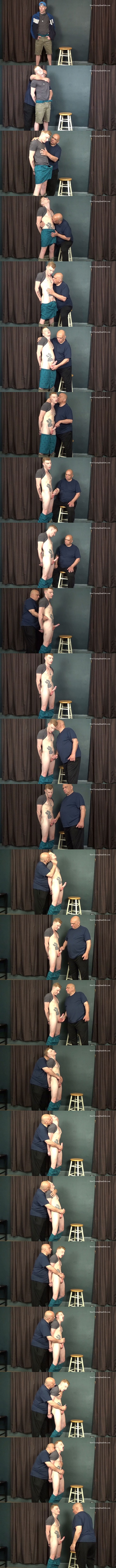 Slowteasinghandjobs - Rich slowly teases, edges and strokes bi-sexual ginger Liam's cock before Liam gets his load jerked out of his hard cock in Standing Tease 02