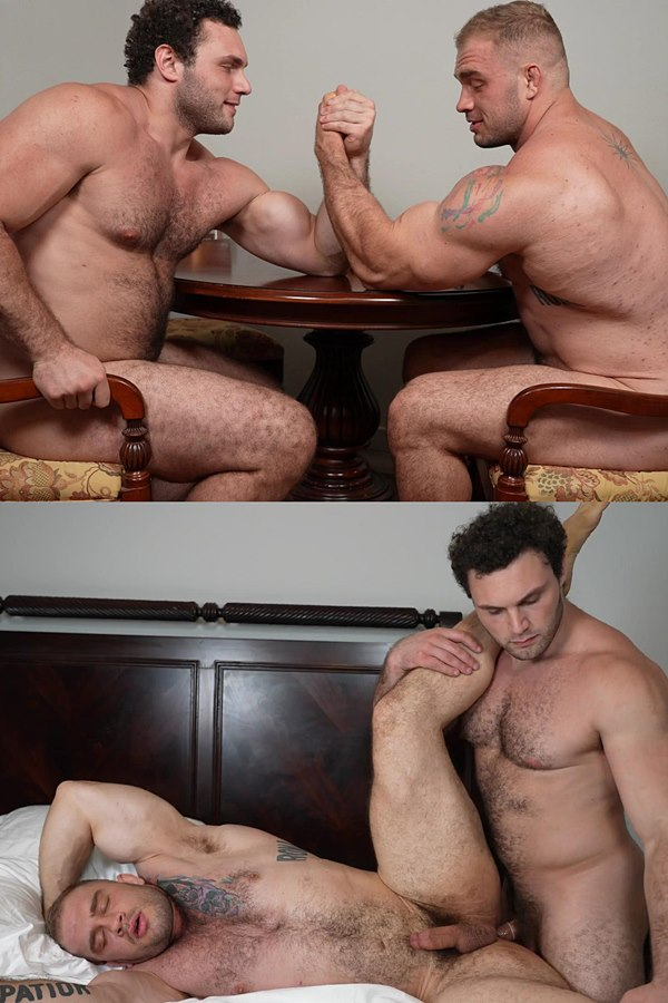 Theguysite - Two Titans Ludvig and Davin Strong pose their naked muscular bodies before Ludvig fucks Davin in different positions until they blow their jizz 01