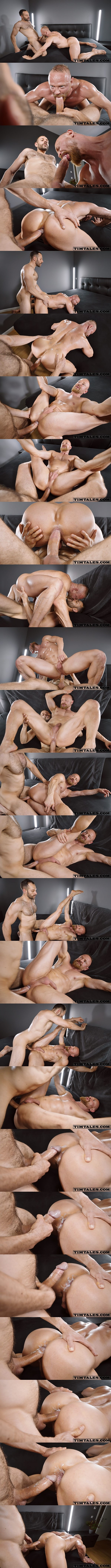 Timtales - masculine big-cocked Brazilian power top Mario Galeno barebacks bearded muscle daddy bottom Guido Stahl in several positions before he breeds Guido 02