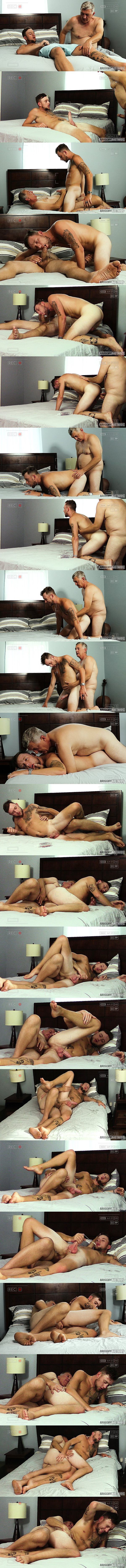 Raunchybastards - Clay barebacks straight guy Ethan Brandt in several positions before he fucks the cum out of Ethan and creampies him in Good Ole Fashioned Lay 02