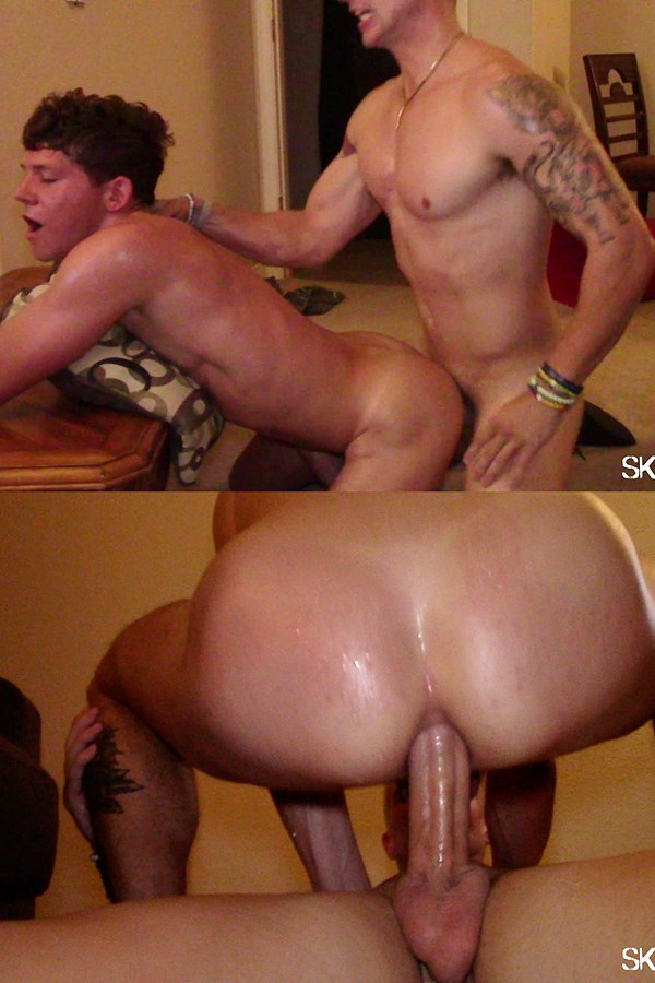 Sketchysex - sketchy dudes Aspen and Taylor (aka Nikolai Lombardo) creampie and fuck the cum out of bottom sluts Aiden Langston and Grey Gold in Thirsty Fuck 01