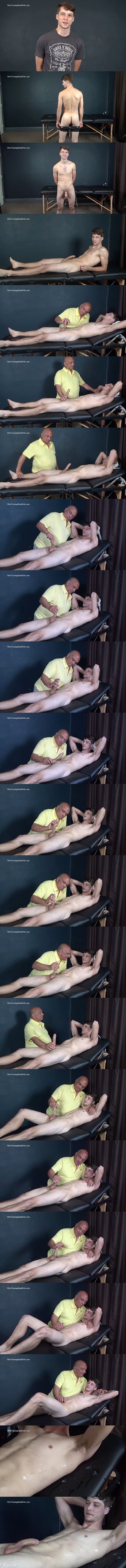 Slowteasinghandjobs - Rich slowly teases bi-sexual dude Nathan's cock and mushroom head before he jerks a big load out of Nathan's hard pole in Light Fingered Edging 02