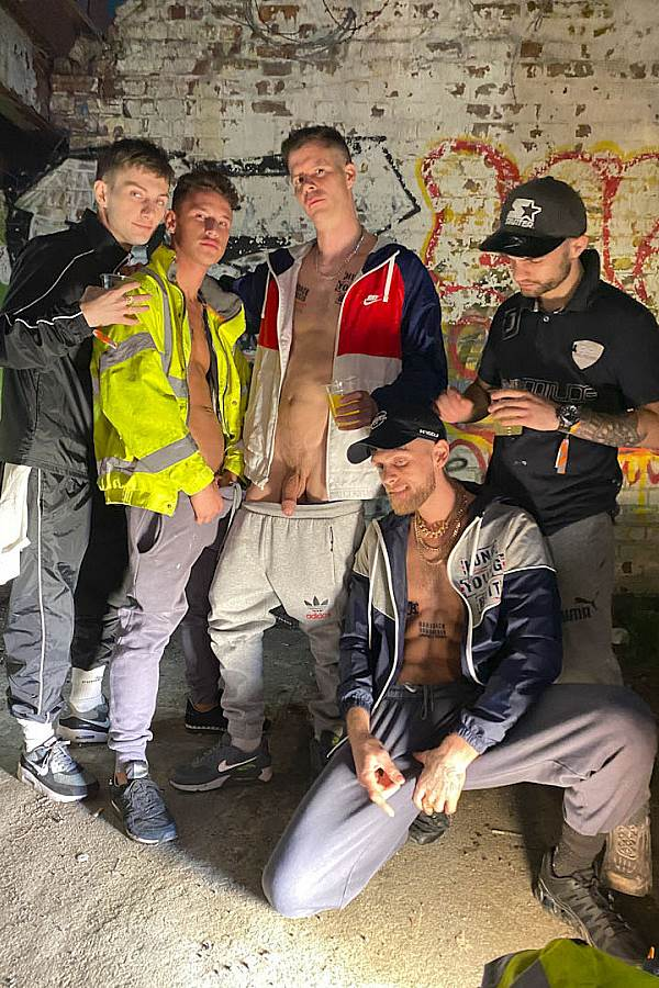 Hungyoungbrit - Hung Young Brit, Josh, Mikey Lee, Jack Parker and random strangers in 3am Shit-Faced Party Lads Creampie Stunner Dick Tube Pumping Cum Inside 01