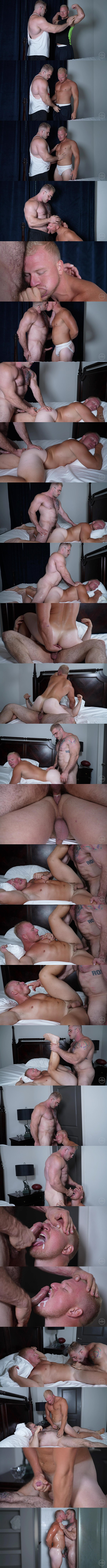 Theguysite - fuzzy muscle hunk Davin Strong fucks football stud Knox's virgin ass in several positions before he cums in Knox's mouth in Popping Knox's Cherry 02